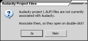 Audacity Verknüpfungen