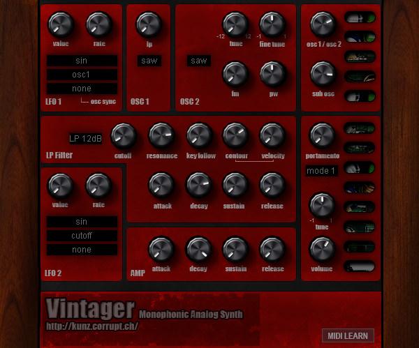 Free VSTo VST Vintager