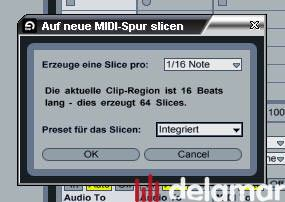 Ableton Live 7 Testbericht: Beat Slicing
