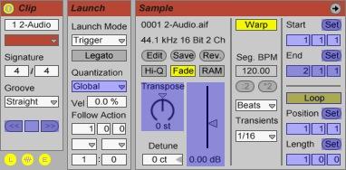 Ableton Live: Clip-, Launch- und Sample-Einstellungen