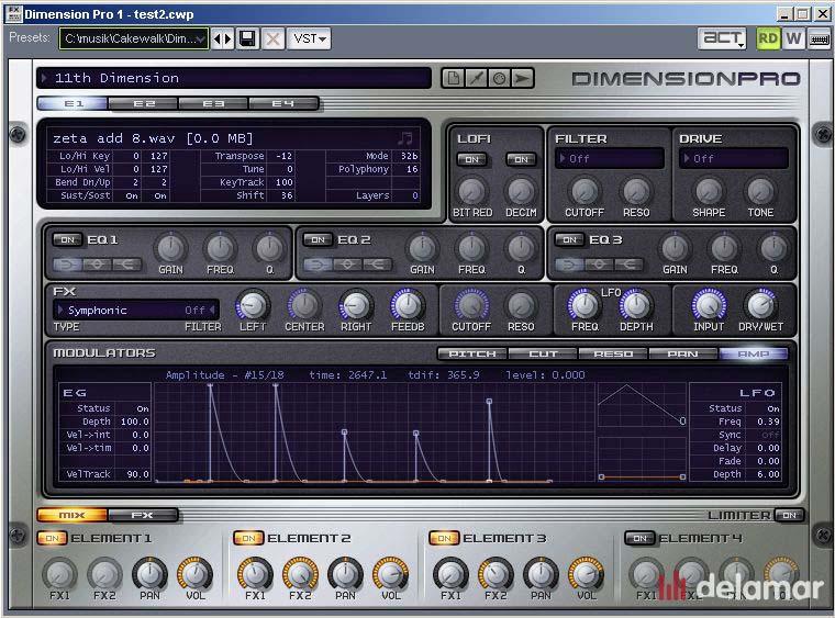 Sonar 8 Instrumente