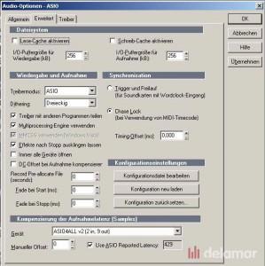 Die Audio Optionen in SONAR 8
