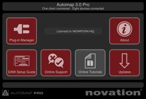 Automap 3 Pro Startbildschirm