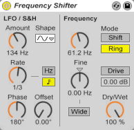 Ableton Live 8: Frequency Shifter