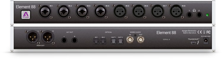 Apogee Element 88 - Bestes Audio Interface mit Fernbedienung