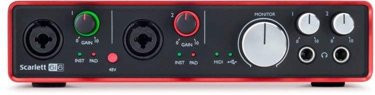 Focusrite Scarlett 6i6 Gen 2 - Bestes Audio Interface für preiswertes Band Recording