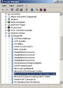 Fehler im Gerätemanager mit Realtek HD Soundkarte Treiber