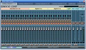 Mixerpanel der Treibersoftware