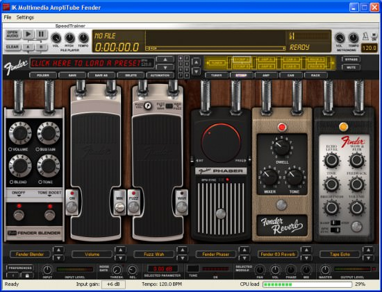 Effekte in AmpliTube Fender