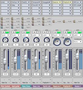 Abmischen im Mixingboard