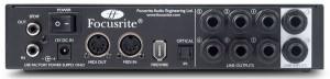 Rückansicht Focusrite Saffire Pro 24 DSP