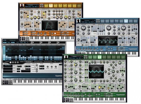 Screenshots der Synths des FXpansion DCAM Synth Squad