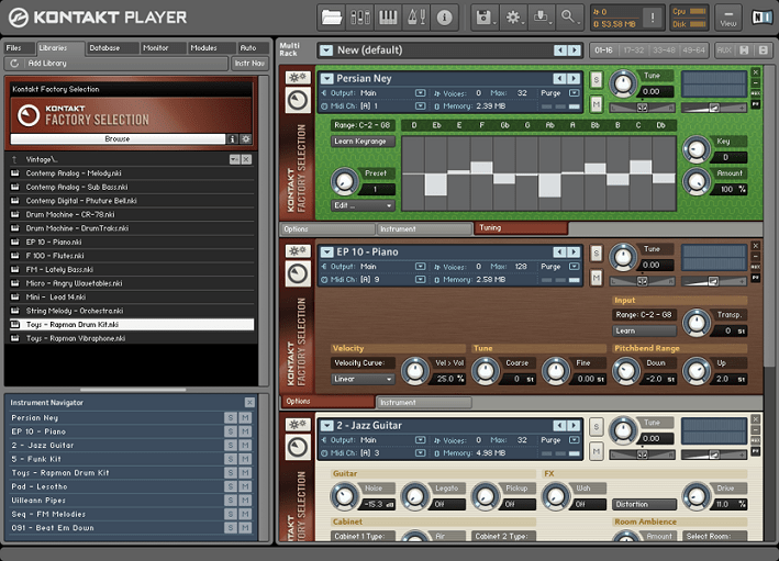 Native Instruments KONTAKT PLAYER: kostenloser Sample Player