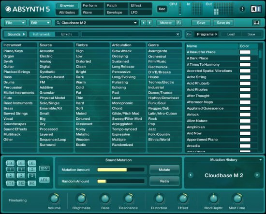 Screenshot von Native Instruments Absynth 5