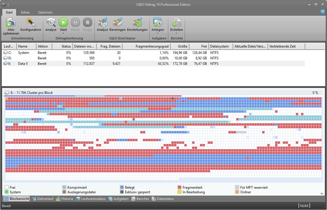 Festplatte Defragmentieren