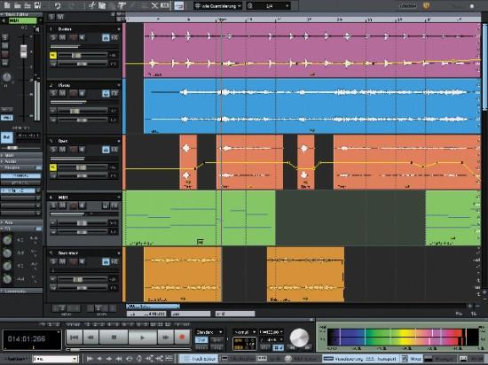 Die Oberfläche von MAGIX Samplitude Music Studio 16