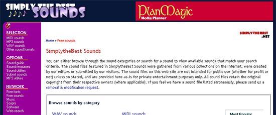 Breit gestreut sind die hier verfügbaren Klänge