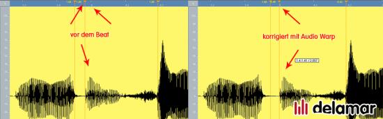 Bearbeiten von Vocals mit flexiblem Audio Warp in Cubase 5