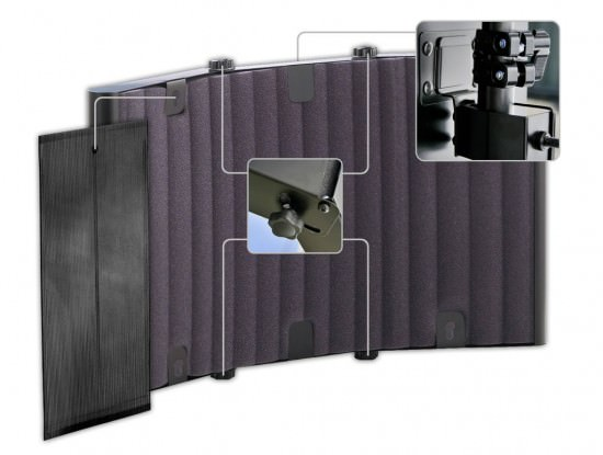 Mobilder Absorber für das Tonstudio SM Pro Audio Mic Thing v2