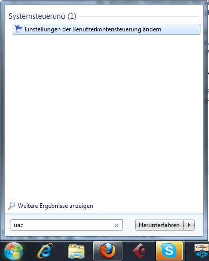 Benutzerkonteneinstellungen ändern in Windows 7