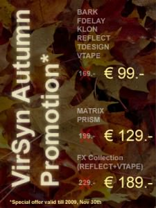 VirSyn Autumn Promotion