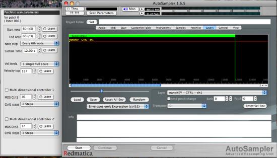 Die GUI ist einfach zu verstehen beim Redmatica AutoSampler