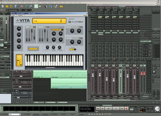 Der Mixer und Sampleplayer VITA in Samplitude 11