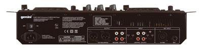 Bild der Rückseite der Gemini CDMP-6000 DJ Workstation
