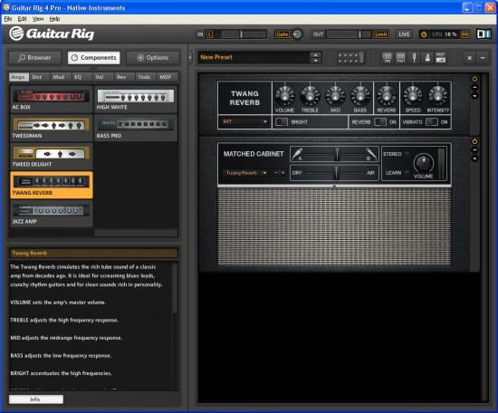 Die neue Funktion Matched Cabinets sorgt für effizientes Arbeiten mit dem Guitar Rig