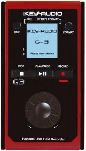 Die Oberfläche des ikey Audio G3 tragbaren Instrumenten-Recorders