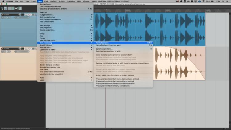 Normalisieren einer Audiodatei