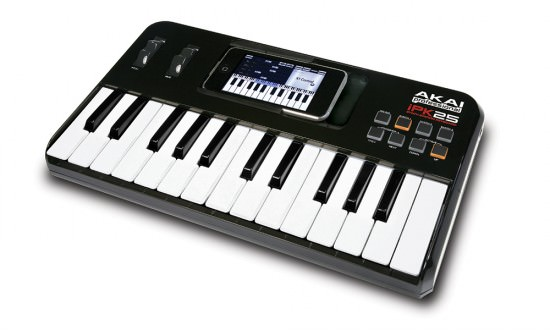 Der Akai iPK25 Keyboard Controller iPhone und iPod touch