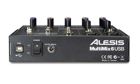 Rückseite beim Alesis MultiMix 6 USB