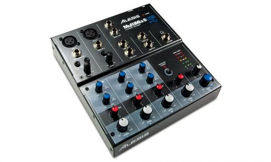 Alesis MultiMix 6 USB kompaktes Mischpult mit Audio Interface