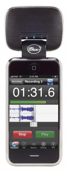 Blue Mikey Mikrofon und Aufsatz für iPod und iPhone