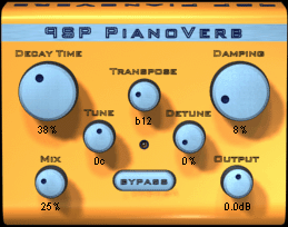 PianoVerb free VST Plugin Hall Reverb Room