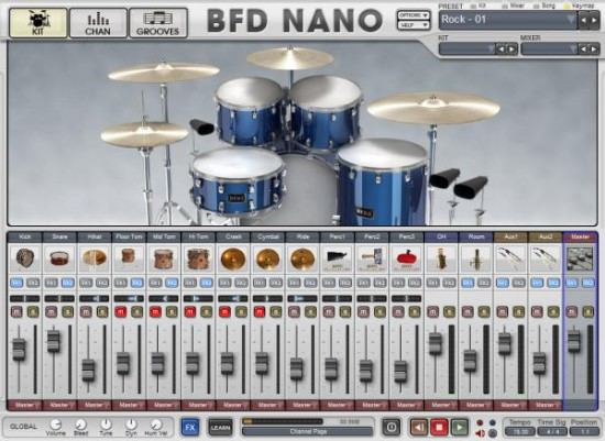 FXpansion BFD Nano virtuelles Instrument für akustisches Schlagzeug