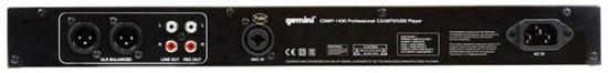 Rückseite beim Gemini CDMP-1400 CD/MP3/USB-Player