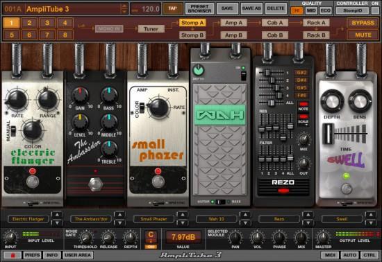 Die Bodeneffekte beim AmpliTube 3 Gitarrenplugin