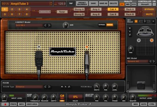 AmpliTube 3 Cabinet und Mikrofone