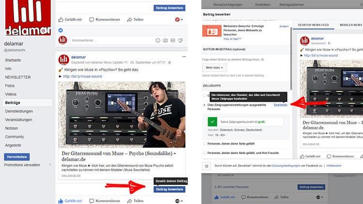 Musikerprofil Facebook erstellen