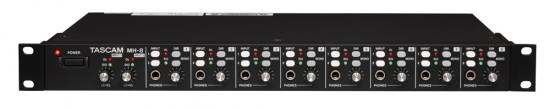 TASCAM MH-8 Kopfhörerverstärker mit 8 Kanälen
