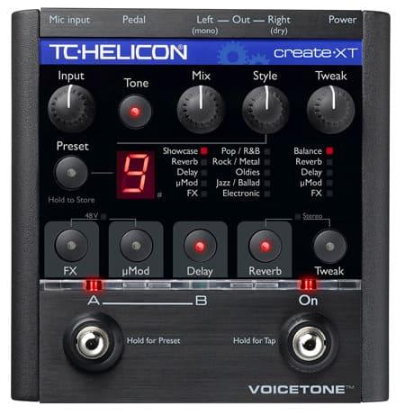 Effektgerät für Vocals TC Helicon VoiceTone Create XT