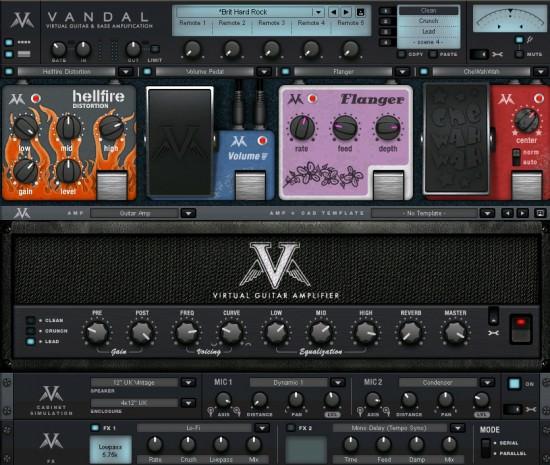 MAGIX Vandal virtueller Gitarrenamp und Bassverstärker