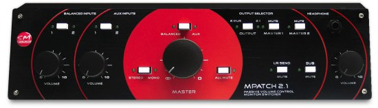 SM Pro Audio M-Patch 2.1 passiver Lautstärkeregler