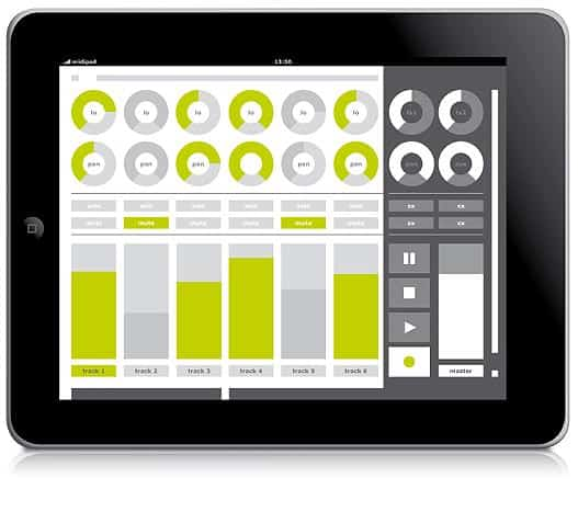 midipad: Multitouch MIDI-Controller für Apple iPad und Apple iPhone