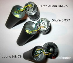 Shure SM57 t.bone MB-75 Hitec DM-57 Testbericht Mikrofonvergleich