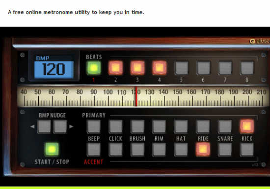 Tools für Musiker Gitarrenstimmgerät bei DrumBot