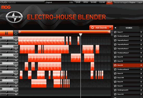 Kostenlose Tools für Musiker Electro-House Blender