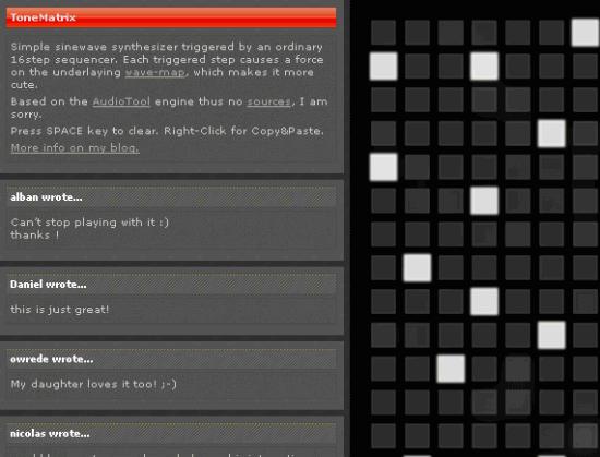 Kostenlose Online-Tools für Musiker: ToneMatrix